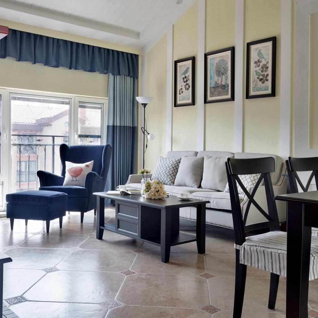 休闲美式装修沙发背景墙图片