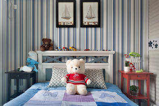 休闲美式装修床头背景墙图片