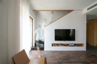 现代简约复式装修电视背景墙图片