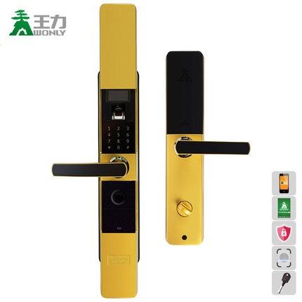 王力指纹锁。家用智能门锁防复制大门密码锁Z201