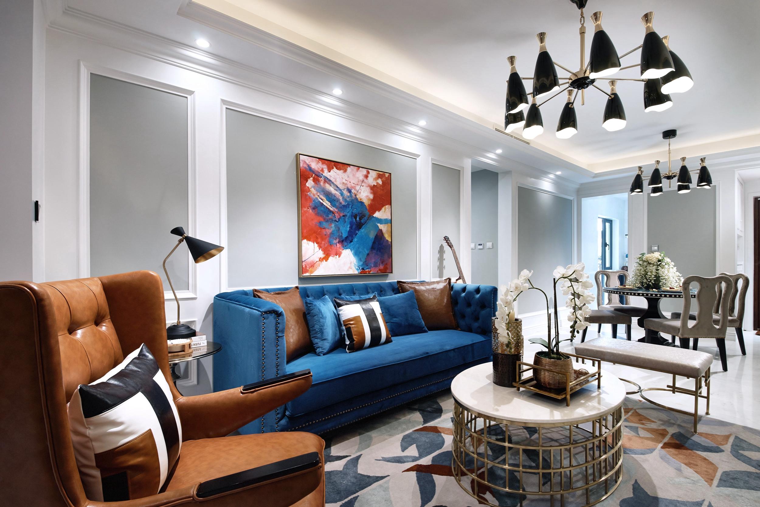 89平现代简约风设计沙发背景墙图片