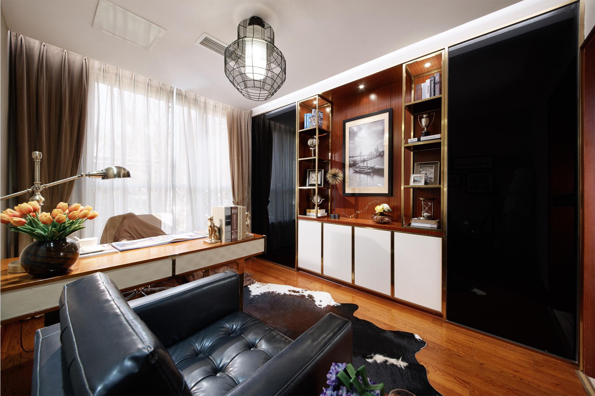 现代三居装修书房效果图
