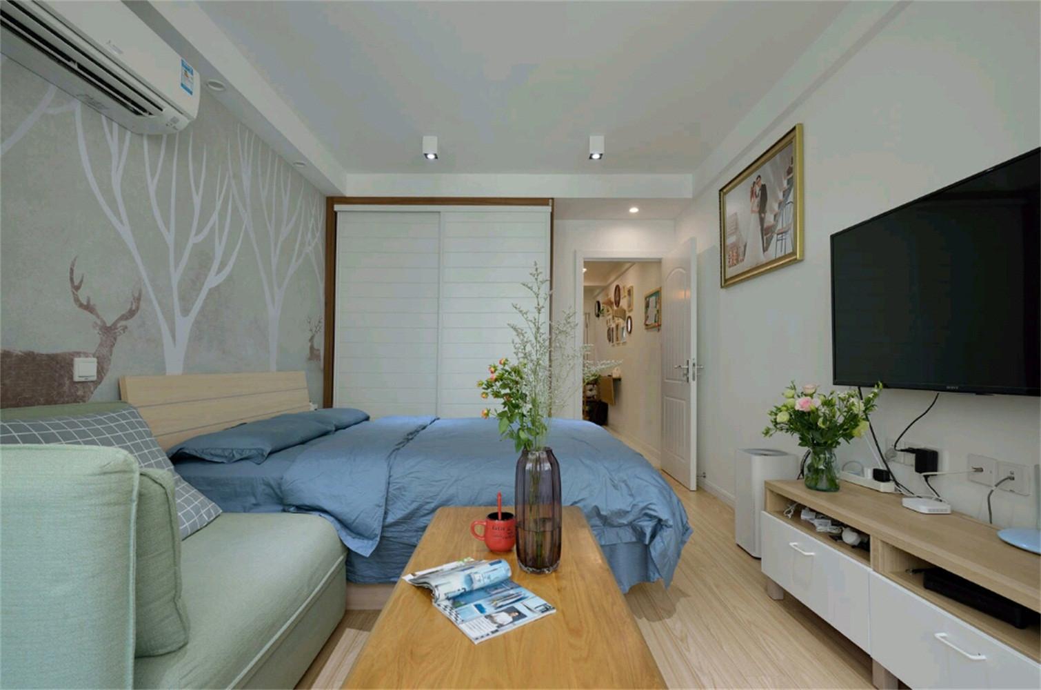 北欧二居室小户型装修电视背景墙图片