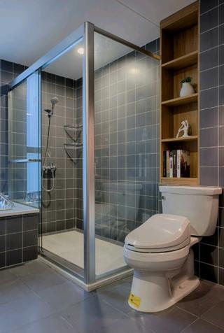 装修效果图 家居美图 北欧风格公寓时尚卫生间设计图纸  相关美图