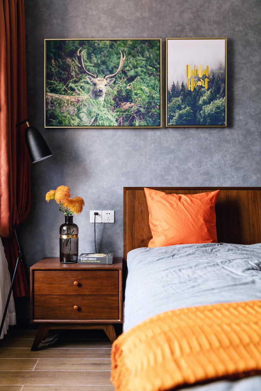 110㎡北欧风装修床头柜图片
