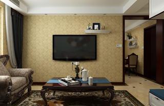 一居室美式之家电视背景墙图片