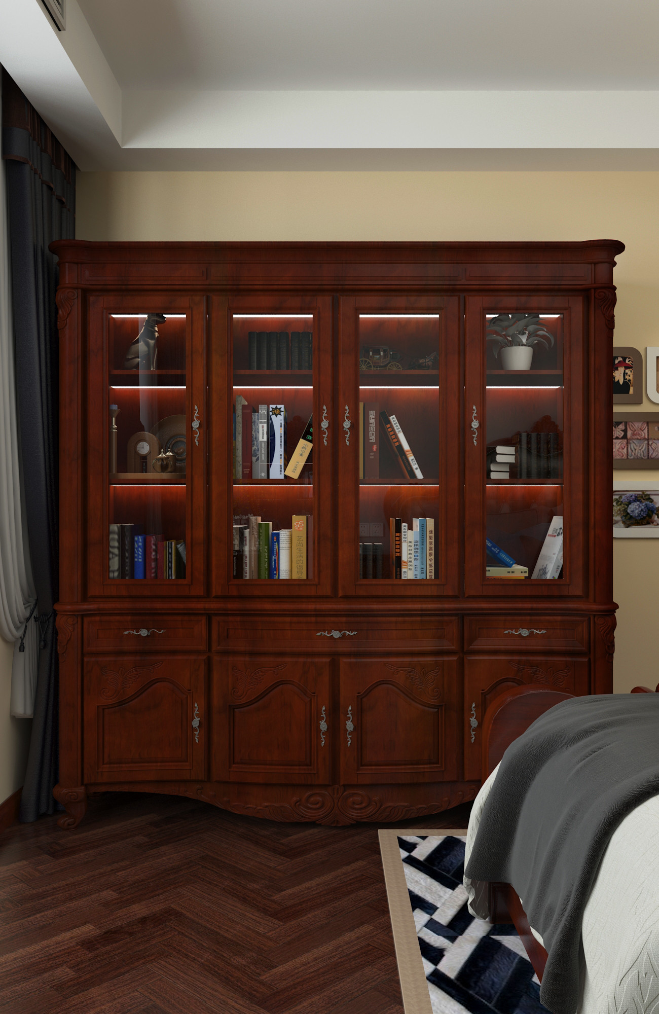 一居室美式之家书柜图片