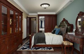 一居室美式之家卧室设计图
