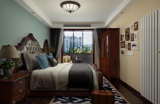 一居室美式之家卧室背景墙图片