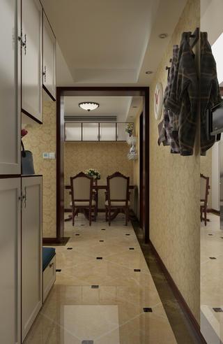 一居室美式之家过道图片