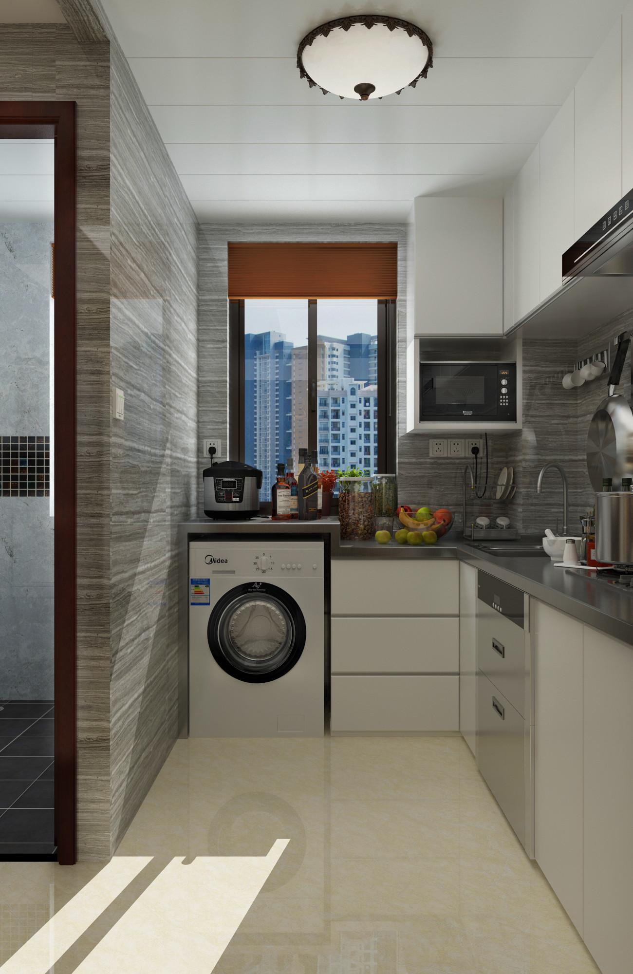 一居室美式之家厨房设计图