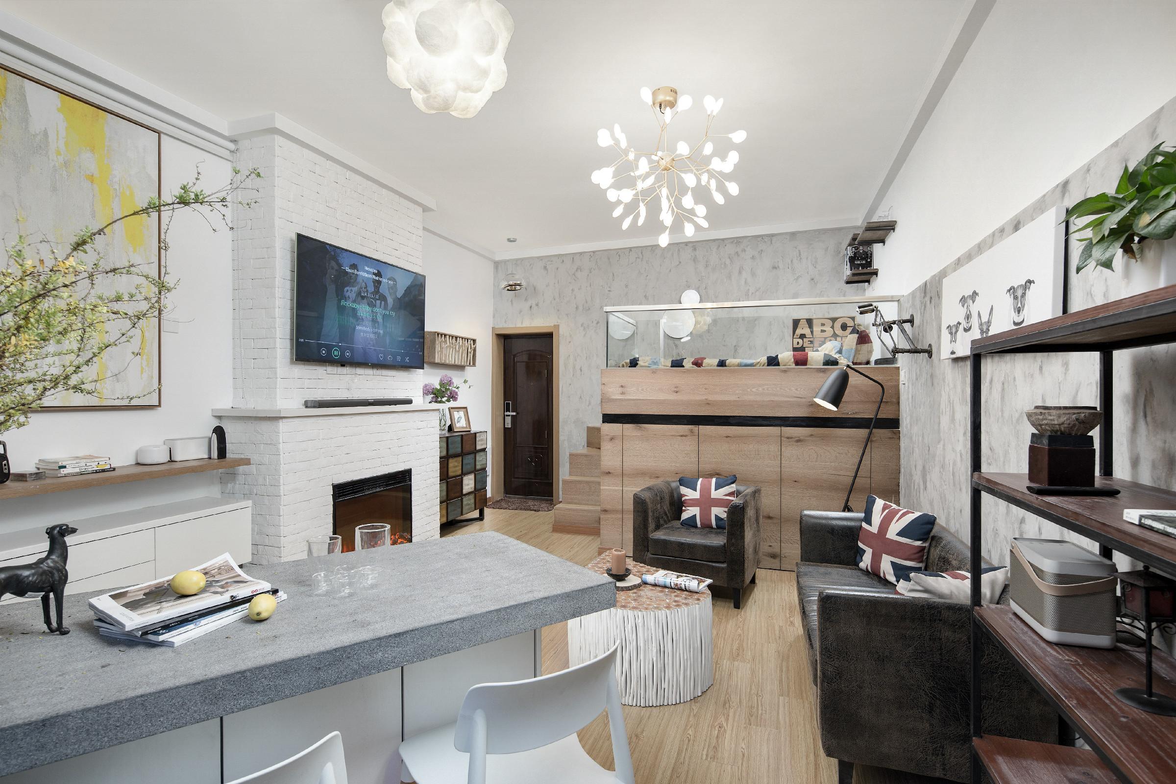 33平单身公寓餐厅装修设计_齐家网装修效果图