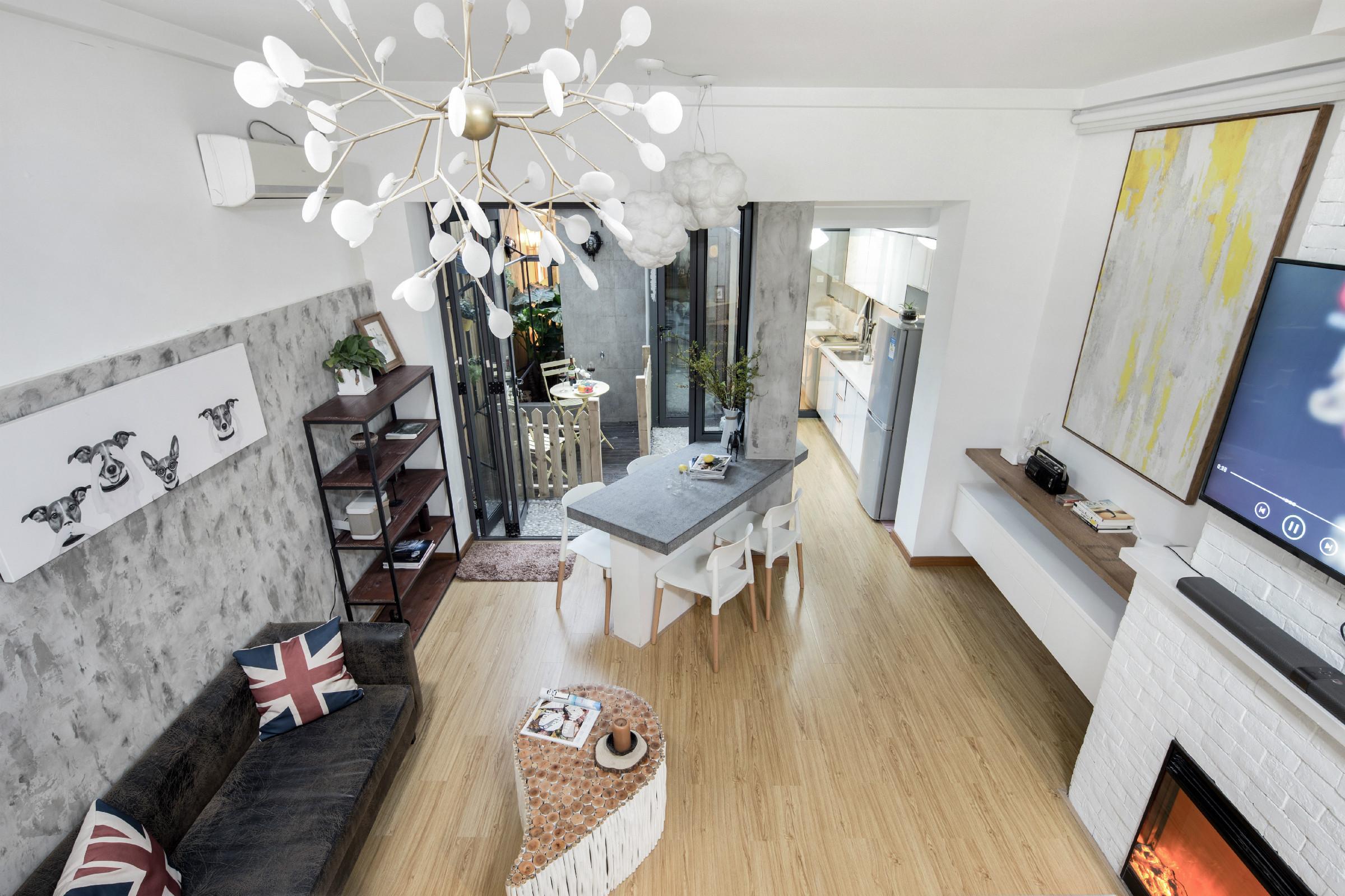 38平小户型公寓装修客厅效果图