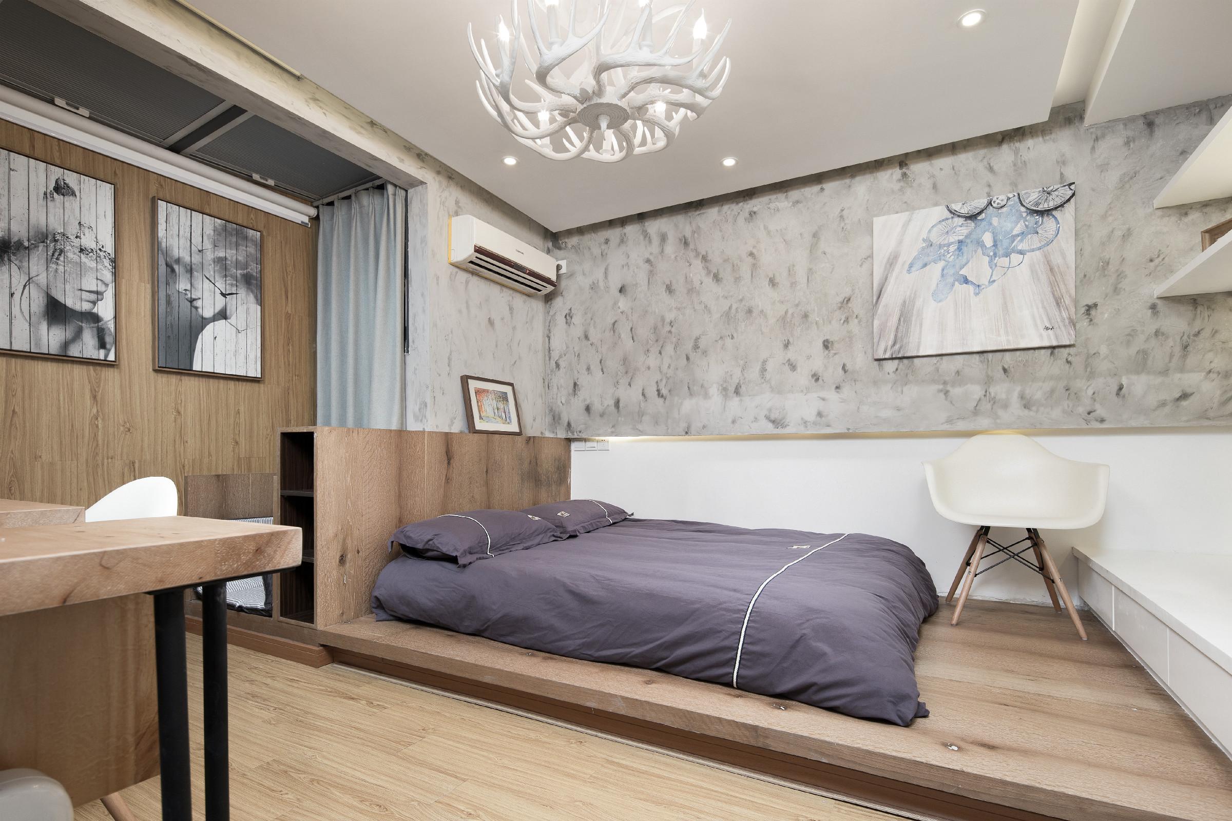38平小户型公寓装修卧室设计图