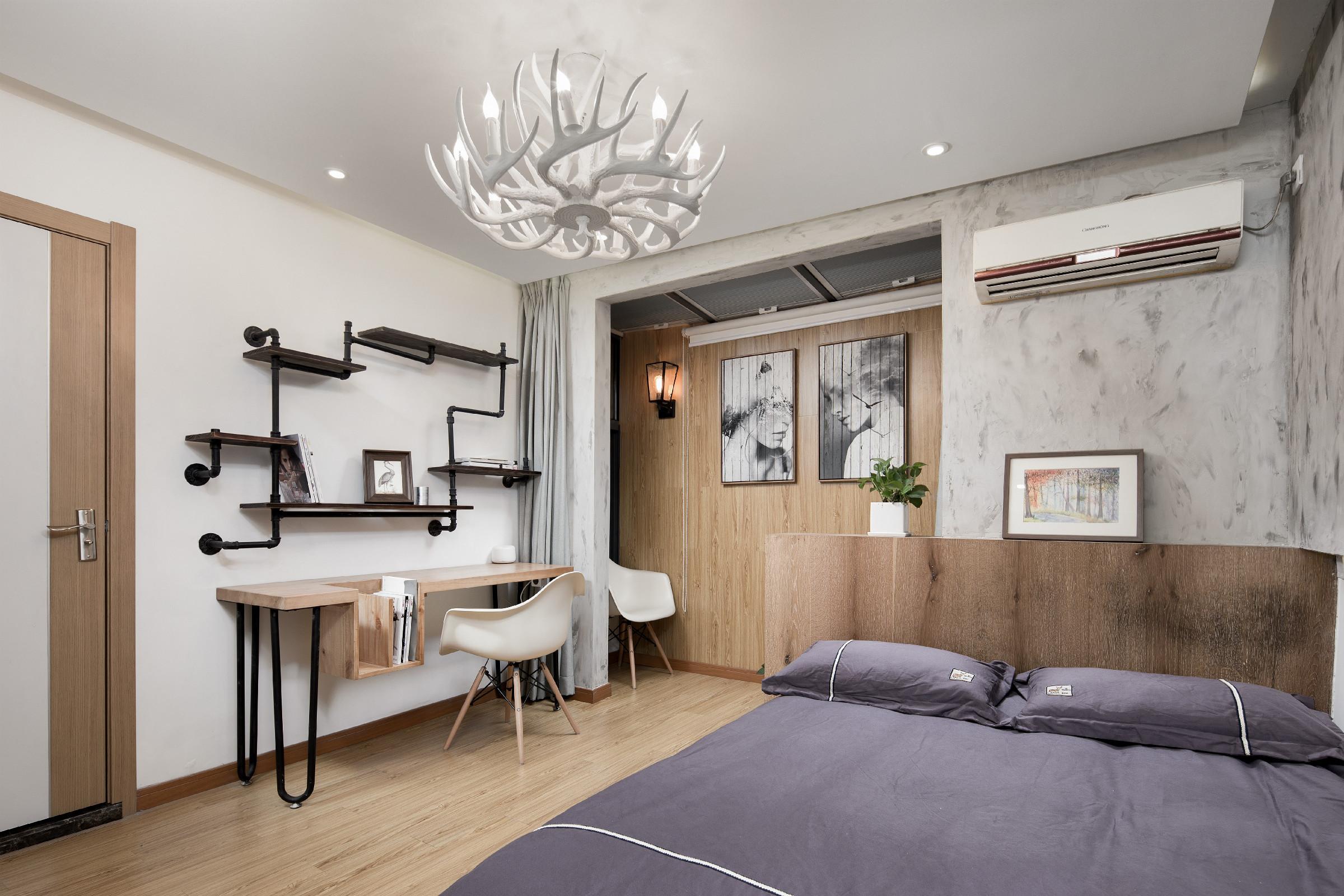 38平小户型公寓装修卧室工作区