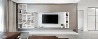 120平简约装修电视墙图片