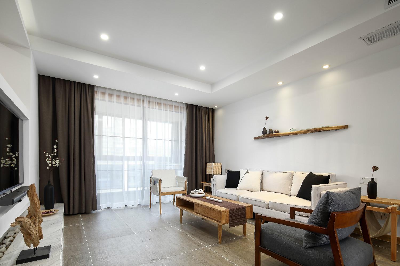 140平日式装修客厅效果图