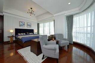 三居室美式空间装修主卧欣赏图
