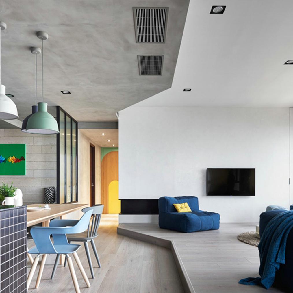 现代简约三居装修设计效果图