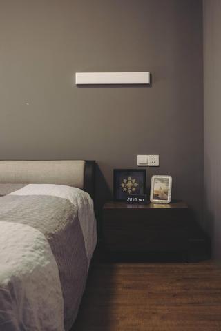 140平现代简约家装修床头背景墙图片