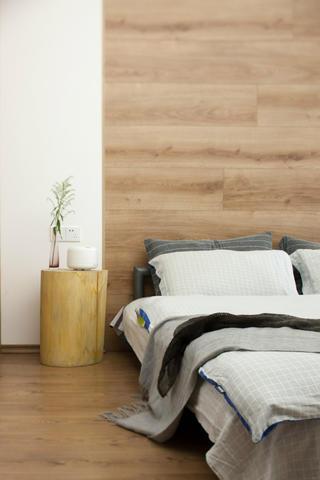 简洁北欧二居装修床头背景墙图片