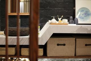 日式三居装修洗手台特写