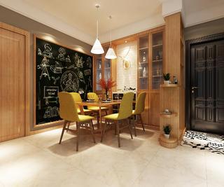 现代简约三居装修餐厅效果图