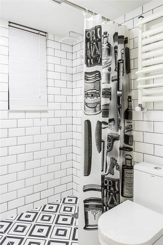 混搭二居装修卫生间装潢图