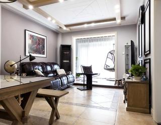 二居室美式风情家客厅效果图
