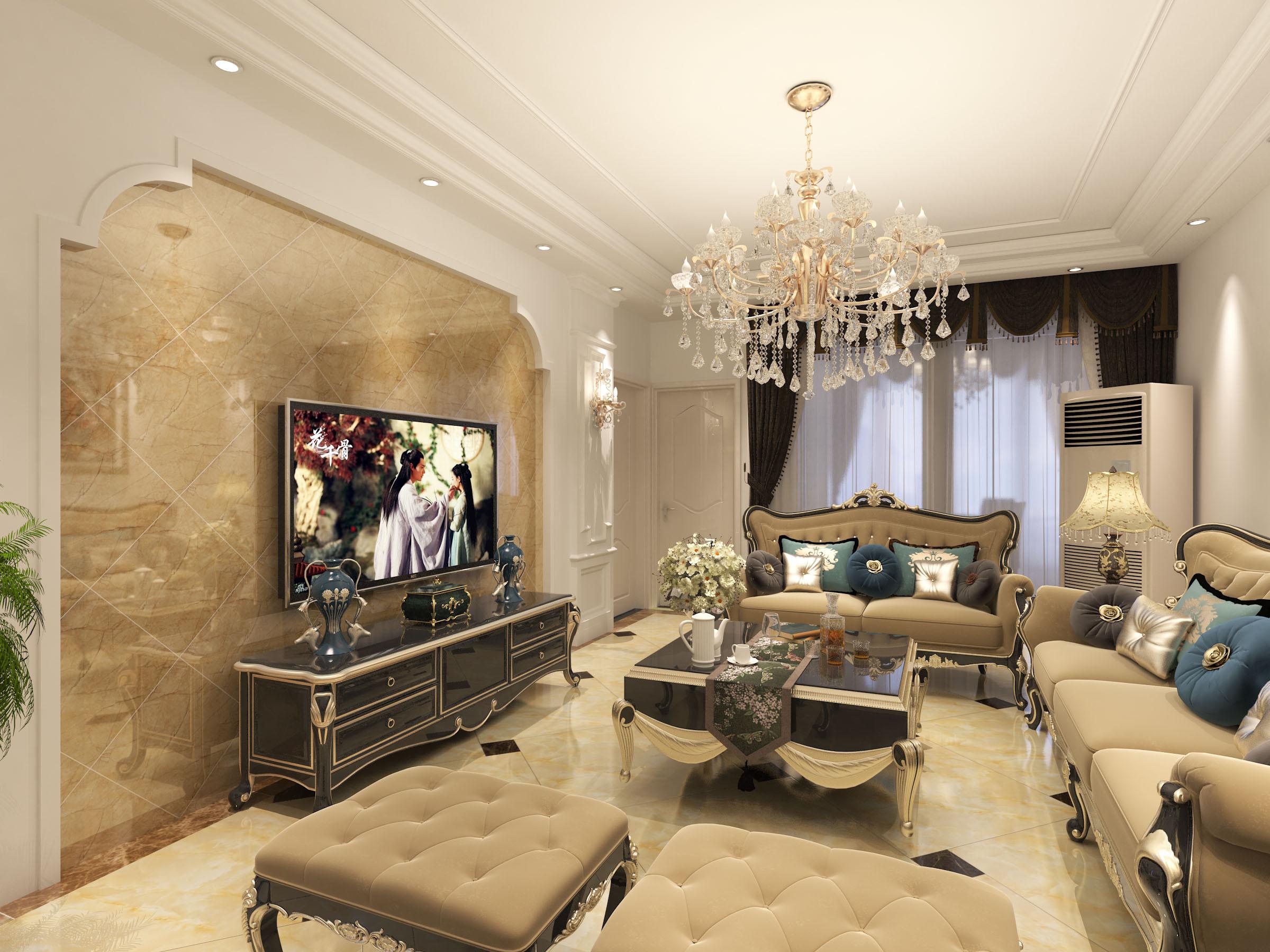 欧式电视墙装修效果图大全2015图片,欧式电视墙装修图