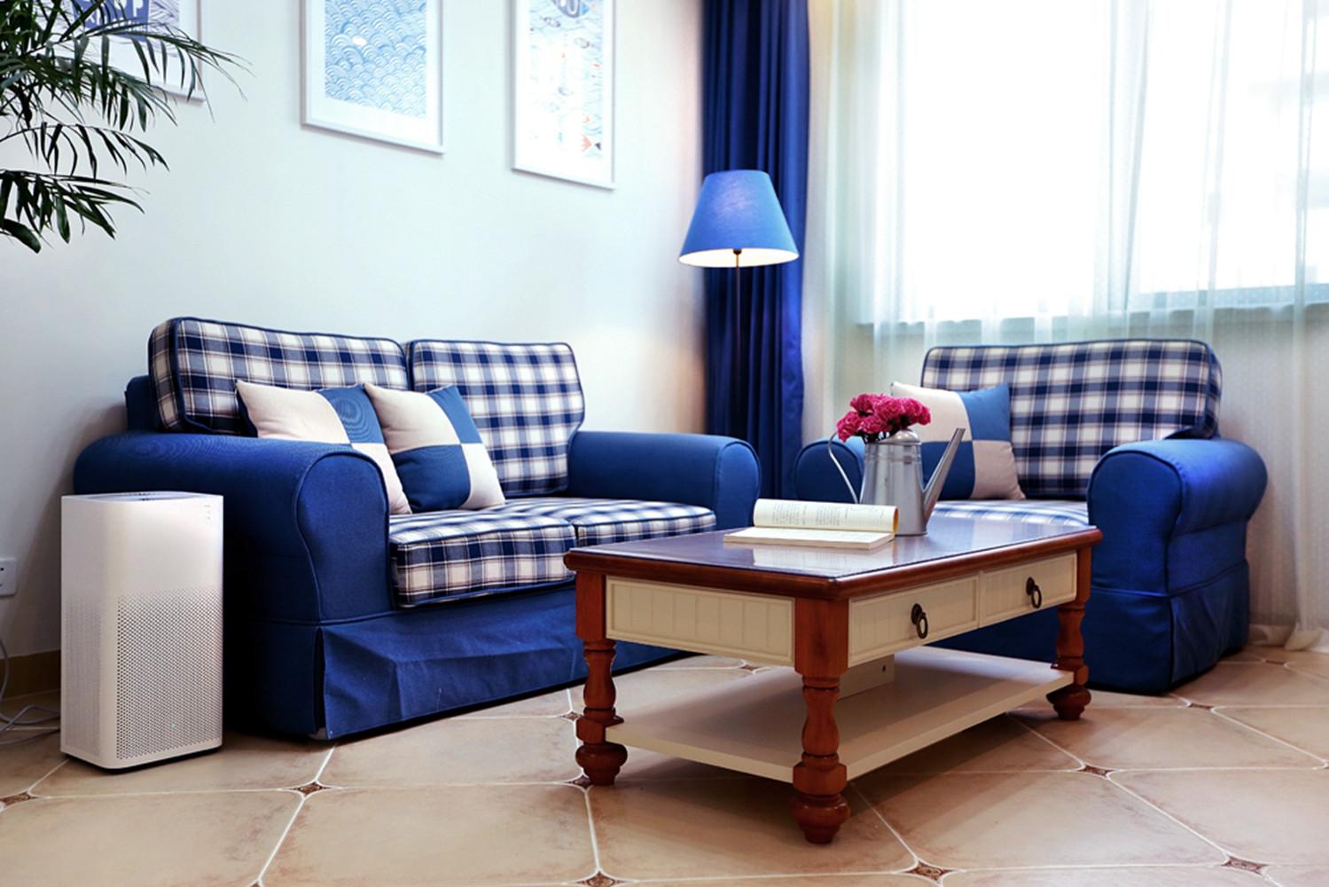 86平地中海风格家沙发图片