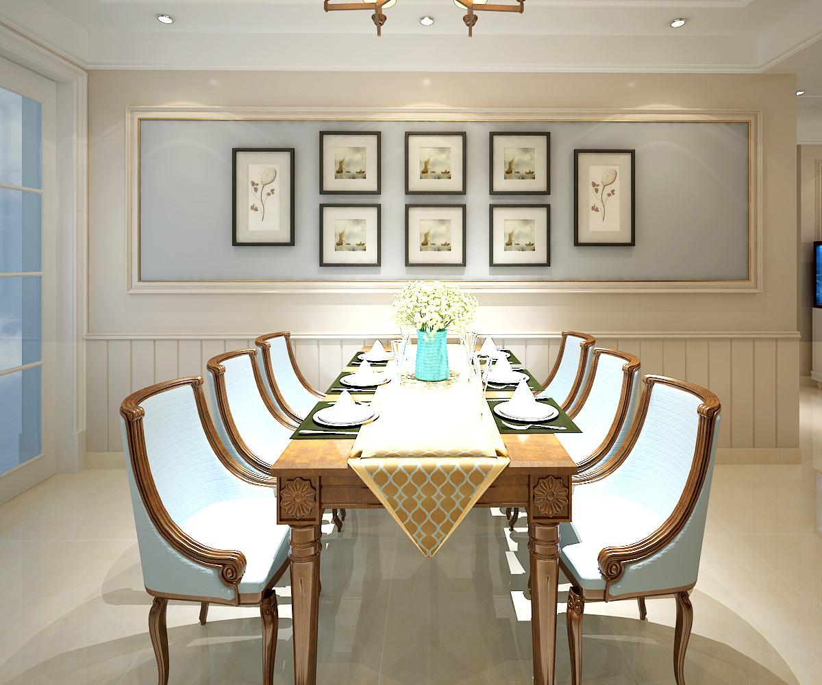 大户型美式混搭装修餐厅设计图