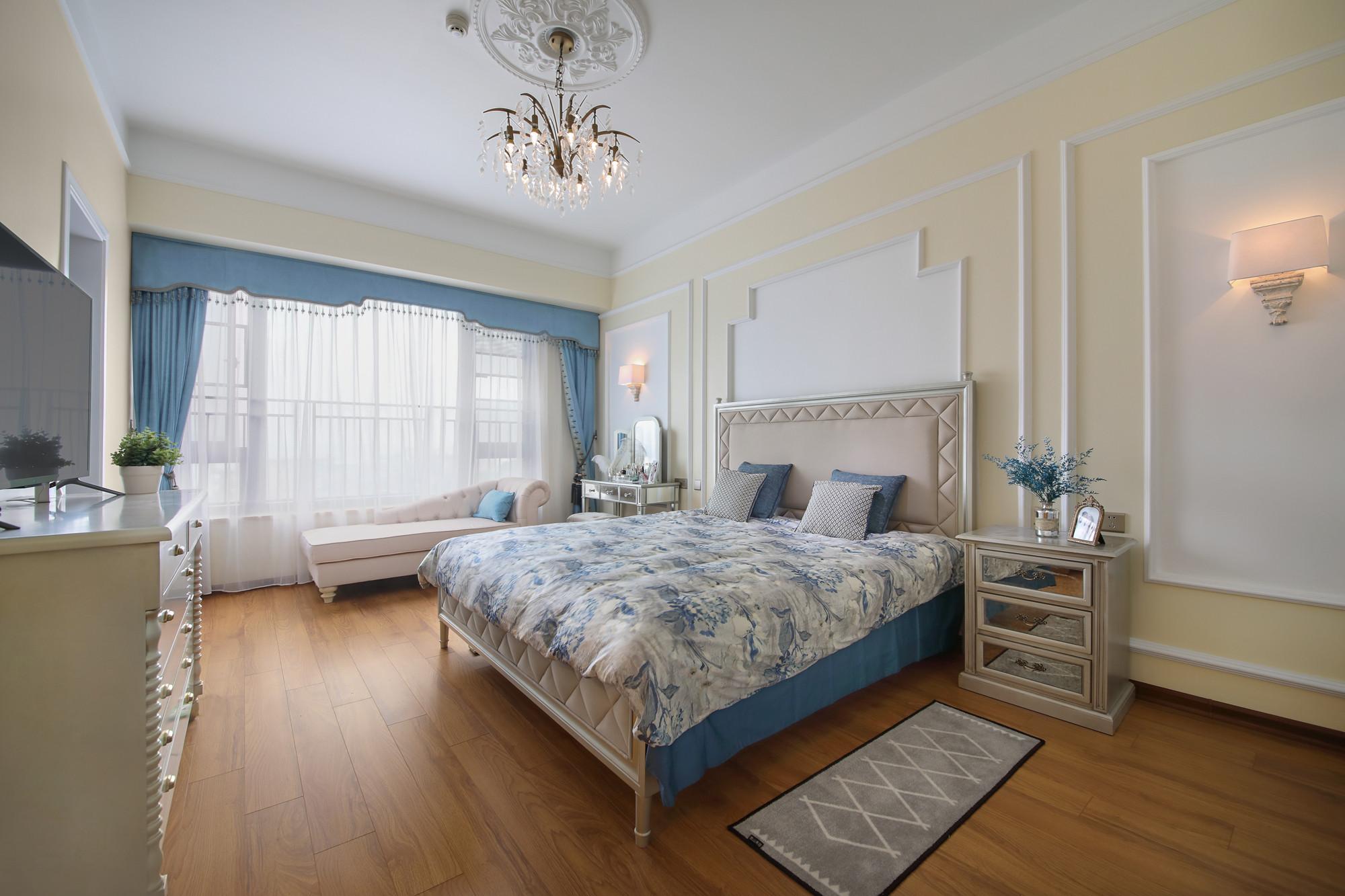 大户型轻奢美式装修卧室效果图