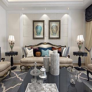 欧式三居室装修设计效果图