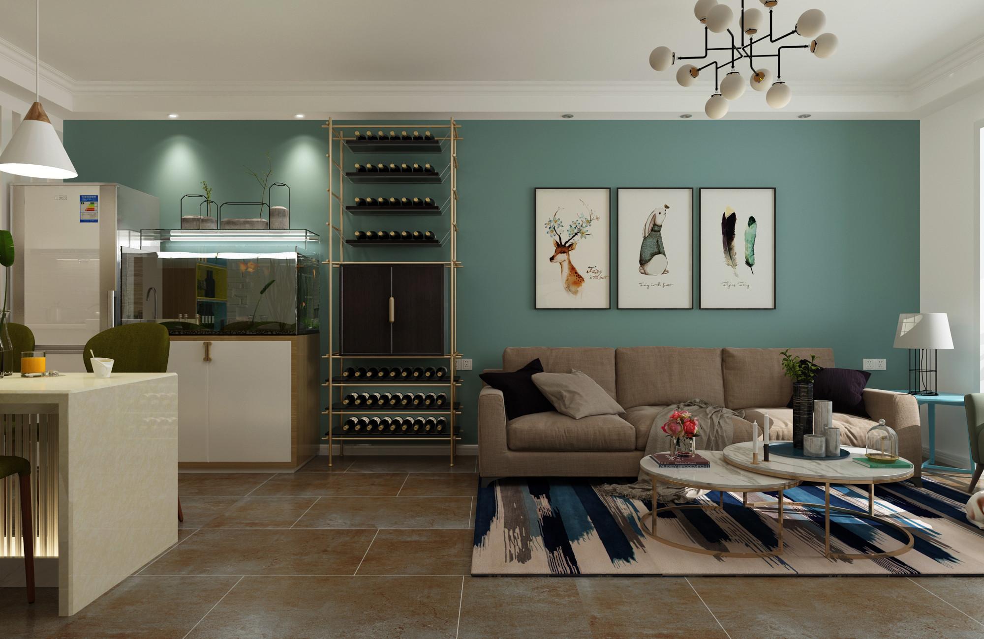 北欧二居室装修设计沙发背景墙图片