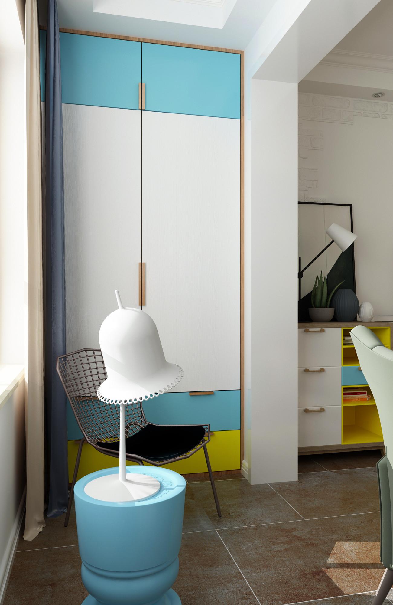 北欧二居室装修阳台设计图