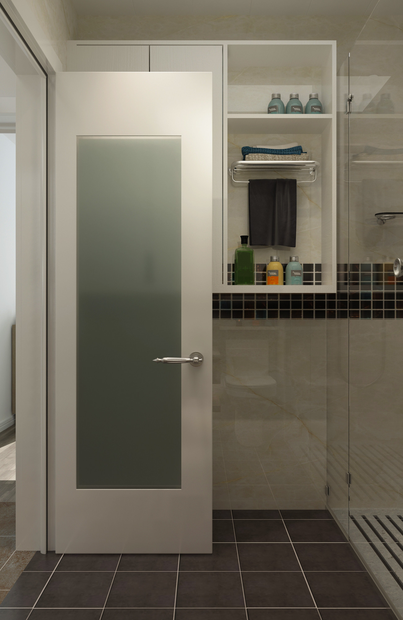 北欧二居室装修浴室柜图片