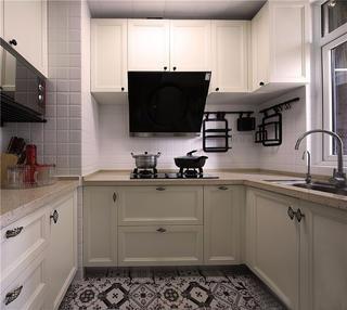 70平简约风格家厨房效果图