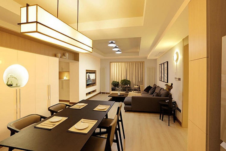 日式二居装修餐客厅效果图