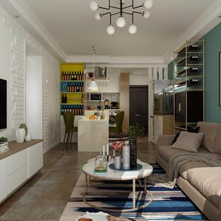 北欧二居室装修设计效果图