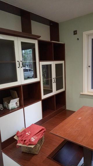 90平简约二居室装修书房实景图