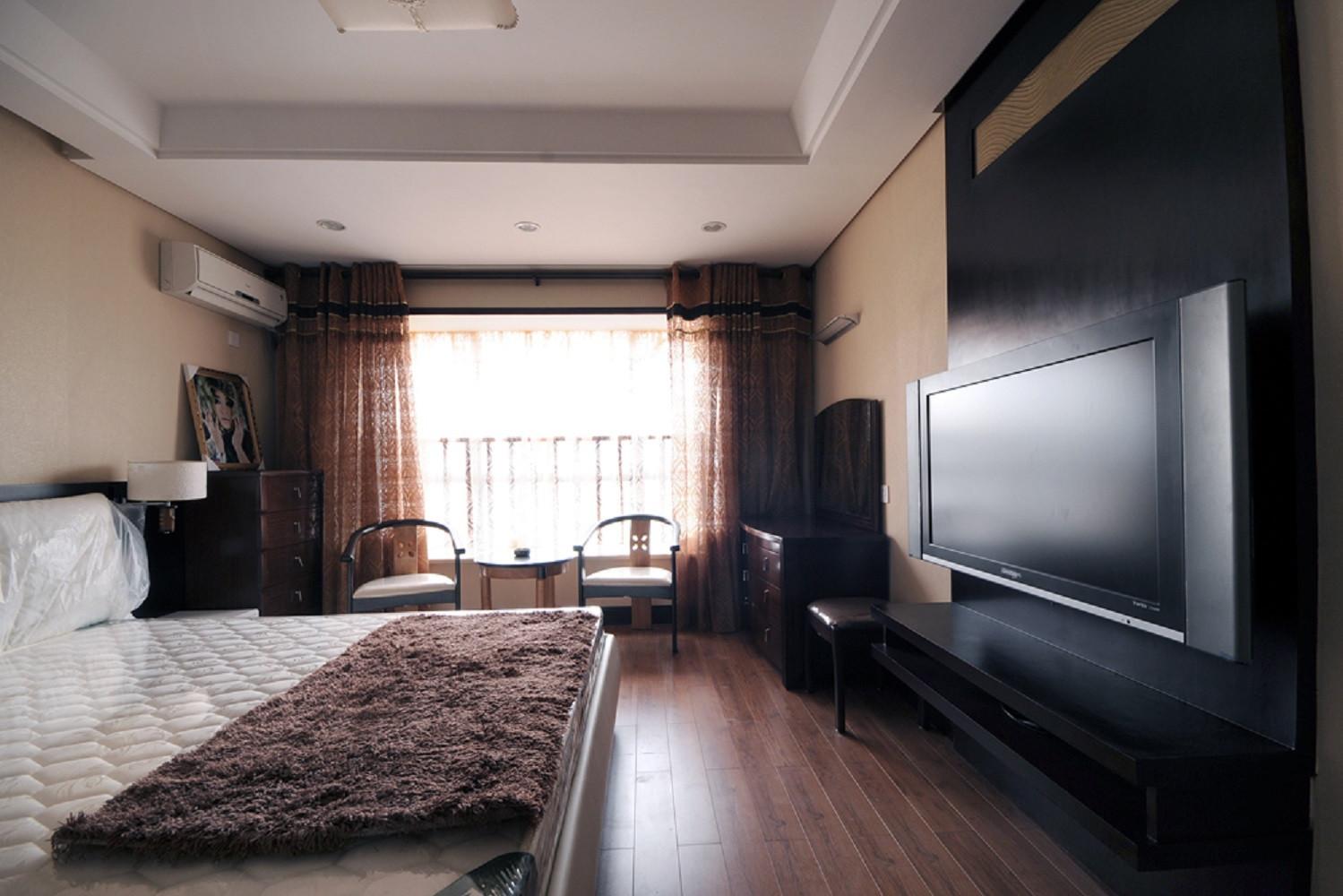 中式风复式装修卧室布置图