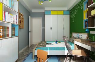 120平现代简约装修儿童房衣柜图片