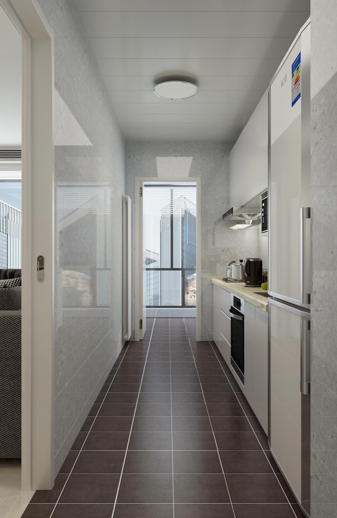120平现代简约装修厨房设计图