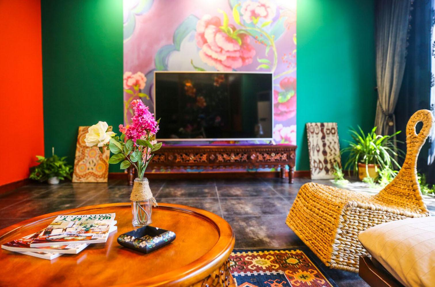 157平东南亚风格装修茶几图片