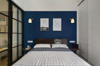 一居室小户型装修床头背景墙图片