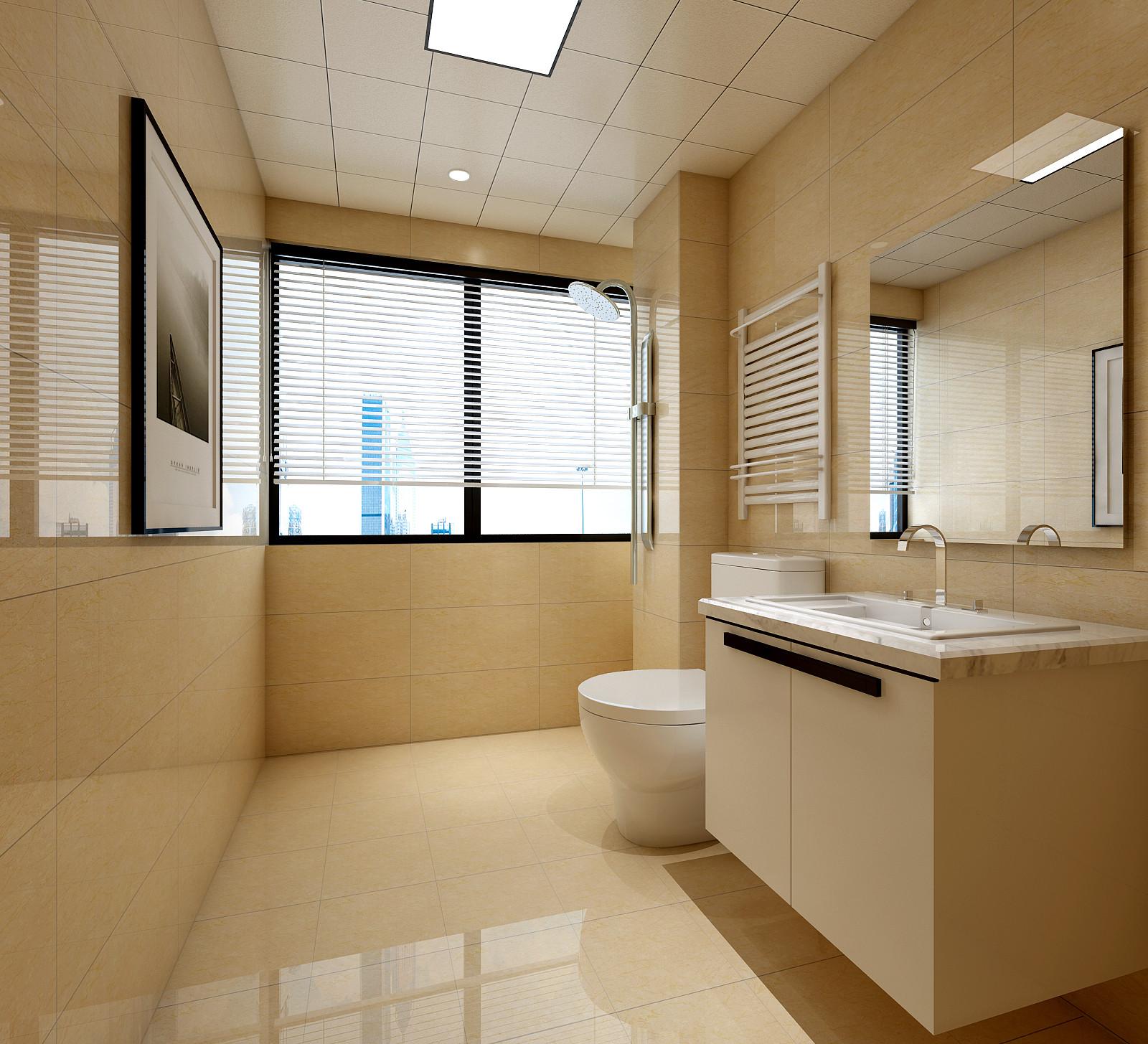 130㎡中式风格装修卫生间效果图