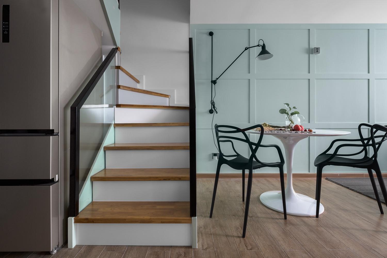 北欧复式装修楼梯图片