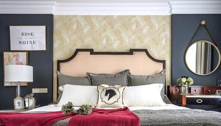 美式三居之家床头背景墙图片