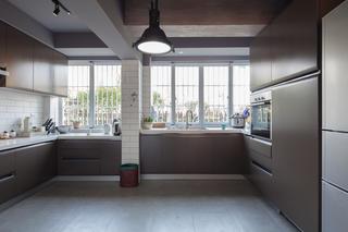 148平混搭装修厨房构造图